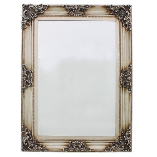 Antique Silver BaroqueLarge Wall Mirror