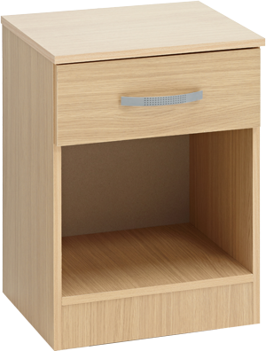 Budget 1 Drawer Bedside